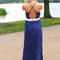 Blue Crush Maxi Dress
