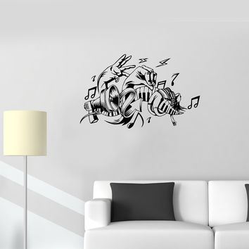 Wall Decal Music Sound Melody Piano Hands Vinyl Sticker (ed1191)
