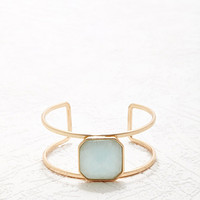 Faux Stone Linear Arm Cuff