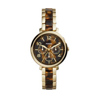 Jacqueline Multifunction Watch, Tortoise