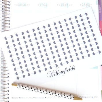 80 small fitness weight stickers for customizing Erin condren life planner, Filofax, plum paper, or journal 013