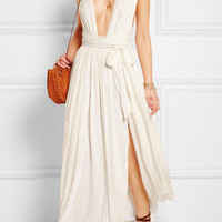 Mara Hoffman - Split-front voile maxi dress