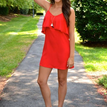 Off the Record dress, red   Chapter 2 Boutique