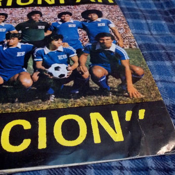 Very Rare Red Vinyl Record Album  Spanish football futbol Soccer 45 Colored Vinyl