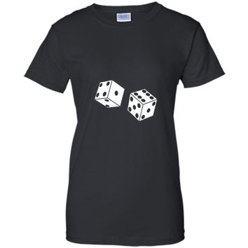 Dice T-Shirt Craps Board Games Roll Lucky Cards Casino