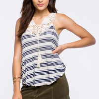 Eliza Breezy Striped Tank