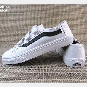 One-nice™ Vans Black/White Classic Canvas Leisure Shoes H-A36H-MY