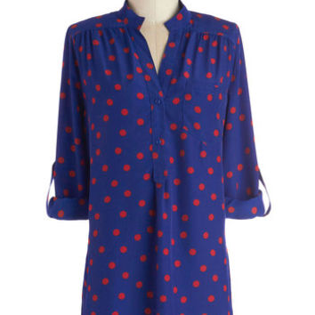 Long Long Sleeve Cover-up Hosting for the Weekend Tunic in Azure