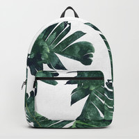 Banana Leaf Watercolor #society6 #buy #decor Backpacks by 83 Oranges™