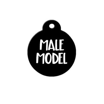 Male Model Pet Tag // Dog Tag // Cat Tag // Valentine's Day // Dog ID // Personalized Dog Tag // Custom Pet ID // Pet Accessories // Dogs