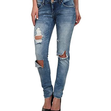 Blank NYC Denim Distressed Skinny in Good Vibes