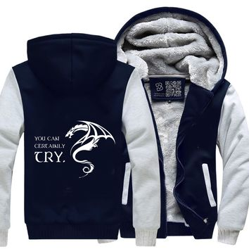 You Can Certainly Try, Dragon And Dungeon Fleece Jacket