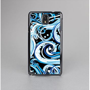 The Wild Blue Swirly Vector Water Pattern Skin-Sert Case for the Samsung Galaxy Note 3