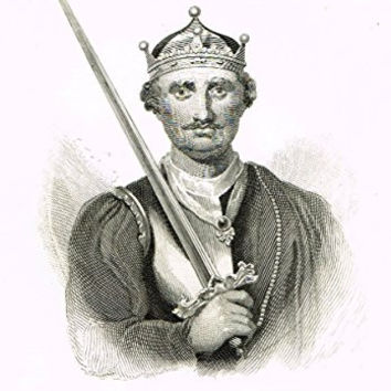 "Royal Portraits - ""WILLIAM THE CONQUEROR"" - Copper Engraving - c1820"