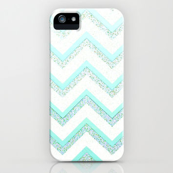 *** NUDE MINT ***   Glitter Chevron iPhone & iPod Case  Monika Strigel for iphone 5 + 4 + 4S + 3G + 3 GS + ipod touch and Samsung Galaxy !!!