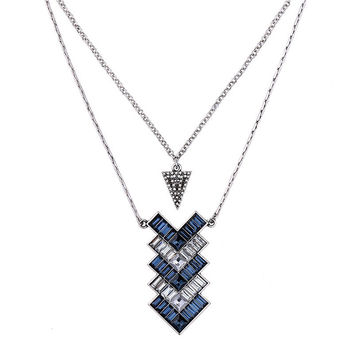 Geometric Crystals Vintage Necklace