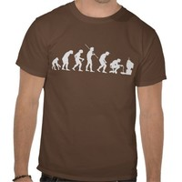 Evolution of Video Games Gaming Gamer T-shirt from Zazzle.com