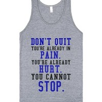Do Not Quit-Unisex Athletic Grey Tank