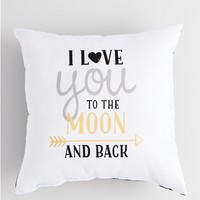 Metallic To the Moon Pillow