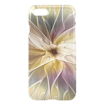 Floral Fantasy Gold Aubergine Abstract Fractal Art iPhone 8/7 Case