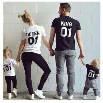 Matching King Queen Prince Princess T-Shirts