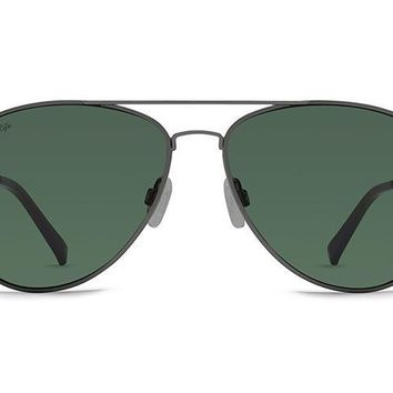 VonZipper - Farva Charcoal Gloss Sunglasses / Vintage Wild Grey Polarized Lenses