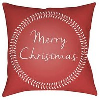 Christmas Card Throw Pillow Surya