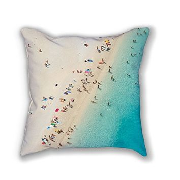 """Mediterranean Dreams"" - Beach photography throw cushion and pillow cover"