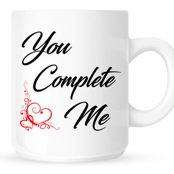 You Complete Me Coffee Mug - Movie Quote from Jerry Maguire