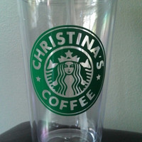 Starbucks Inspired Personalized Plastic Tumbler by PrettiesByJenny