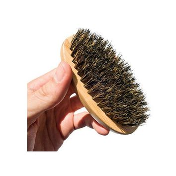 Shaving Boar makeup Hair Bristle Beard Brush Military Round Men Brush Strokes Great to Use with Facial Hair Beard Oil