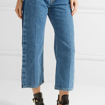Balenciaga - Rockabilly cropped low-rise wide-leg jeans