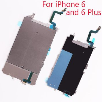 1Set Metal Backplate Shield for iPhone 6 Plus 5.5 & 4.7 LCD Radiating sticker +Metal Heat Plate & Home Button Flex Cable
