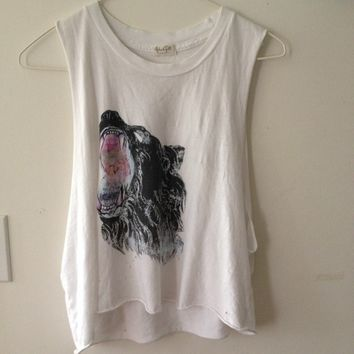 Brandy Melville Wolf Muscle Tee