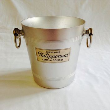 French Vintage Champagne Bucket Ice Bucket Philipponnat