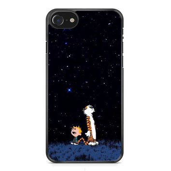 Calvin And Hobbes Galaxy Stars iPhone 7 Case