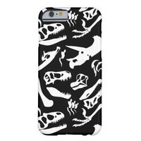 Dinosaur Bones (Black) Barely There iPhone 6 Case