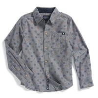 Boy's Lucky Brand Long Sleeve Print Woven Shirt,