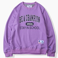 Champion X Supreme Women Men Fashion Casual  Top Sweater