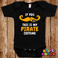 Baby Halloween Pirate Costume One Piece Infant Bodysuit Funny Mustache Romper Joke Boy Girl Geek Adorable Cute Shower Gift Trick Or Treat
