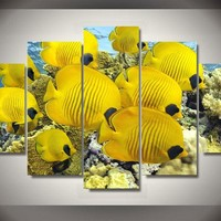 Tropical Fish 5-Piece Wall Art Canvas