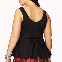 Fancy Bow Back Peplum Top