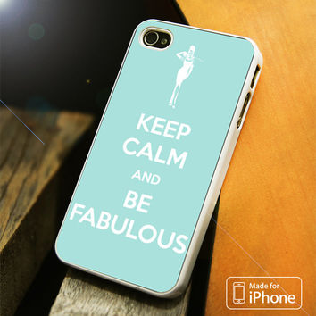 Keep calm and be fabulous Tiffany blue iPhone 4S/5S/5C/SE/6S Plus Case