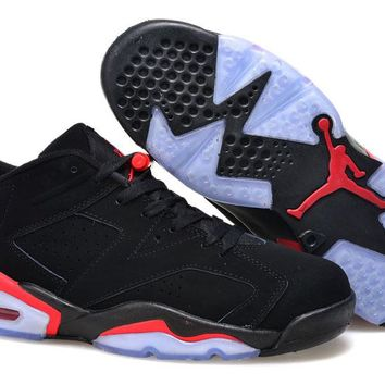 Air Jordan 6 Retro Low Black/infrared 23-black Black Infrared Low 6s - Beauty Ticks