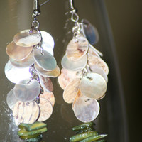 Shell & Stone Dangle Earrings