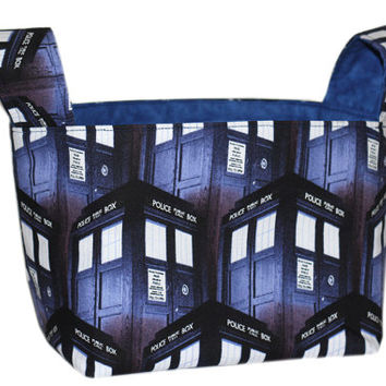 NEW Desk Organizer | Doctor Who | Bedroom Storage Bin | Easter Basket | TARDIS
