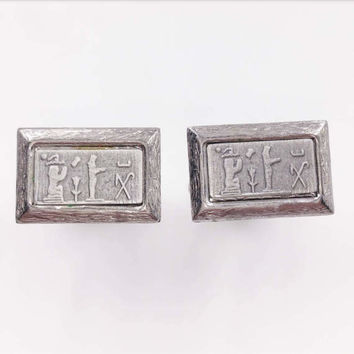 Vintage Egyptian Revival Cufflinks Men's Jewelry Accessories Gifts