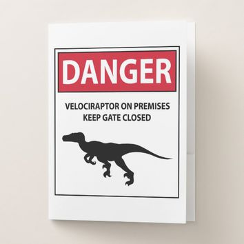 Danger Sign (Raptors) Pocket Folder