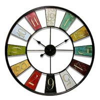 "Amazon.com: Infinity Instruments Kaleidoscope- 32""  Metal Wall Clock: Home & Kitchen"