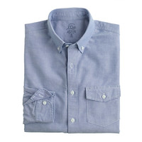 J.Crew Mens Tall Lightweight Vintage Oxford Cloth Shirt In Solid
